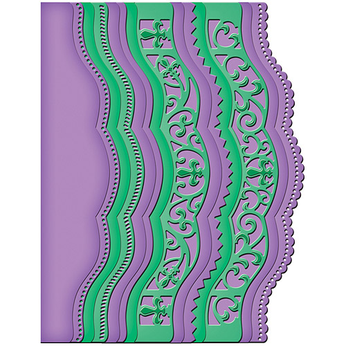 Spellbinders Card Creator Borderabilities, Scalloped Borders 2
