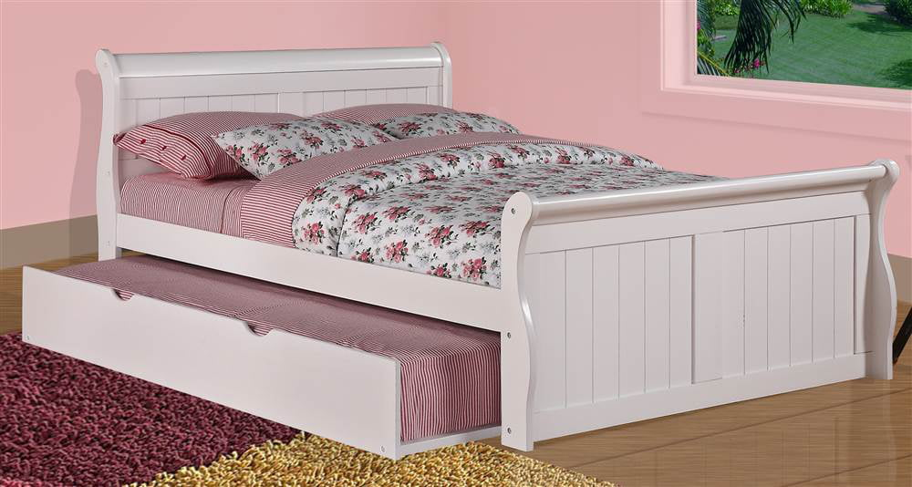 Donco Kids Sleigh Bed with Twin Trundle by Donco Kids