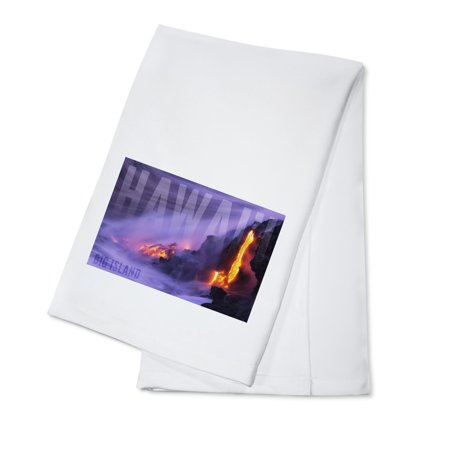 Big Island - Hawai'i - Lava Flow - Lantern Press Photography (100% Cotton Kitchen - Lava Flow Recipe