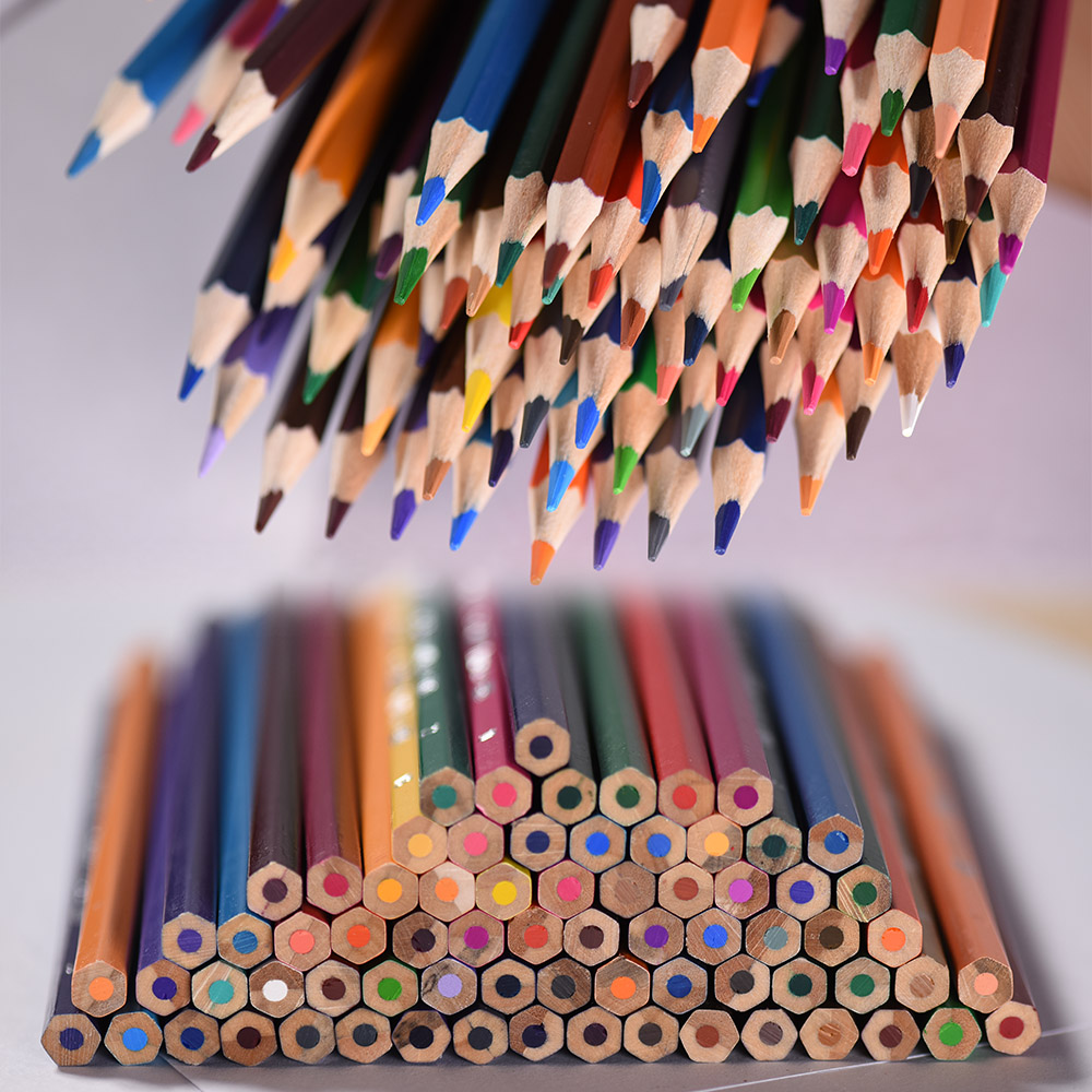 72 Colors Colouring Pencils set Colored Best Oil Based Pencils For Adult Coloring Books Kids Artist Art Drawing Sketching Painting Non-toxic