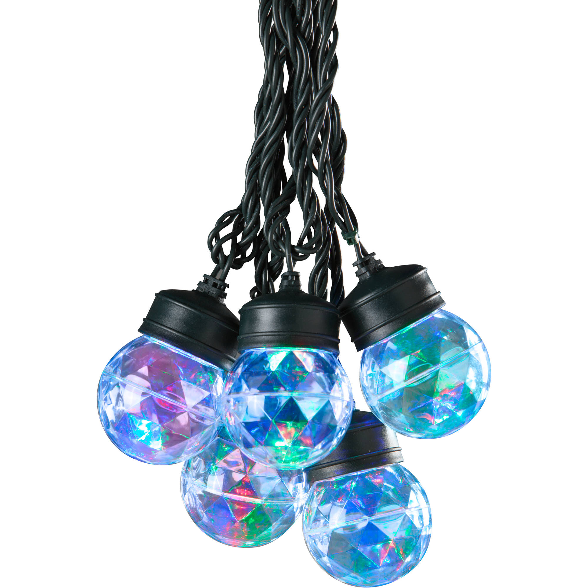 Gemmy Lightshow Christmas Lights 45ct LED Projection Lights with Clips, Set of 8, Red, Green and Blue