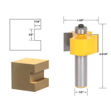 Rabbeting & Slotting Router Bit 3/4