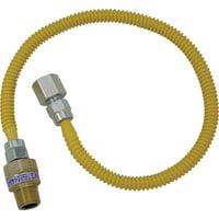 """Brasscraft CSSL54-48 Gas Dryer and Water Heater Flex-Line, 3/8""""OD x 48"""""""