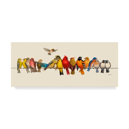Trademark Fine Art 'Bird Menagerie I' Canvas Art by Wendy Russell