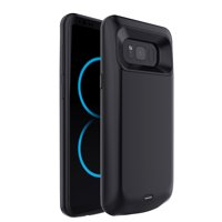 Samsung Galaxy S8 Plus Charging Case, [5500mAh] Rechargeable External Power Battery Charging Case [Black]