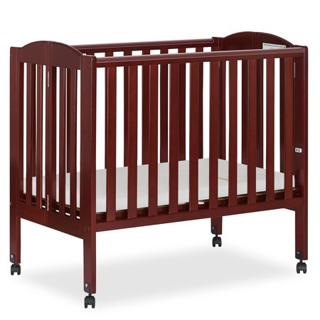 Dream On Me 2-in-1 Folding Portable Crib Cherry