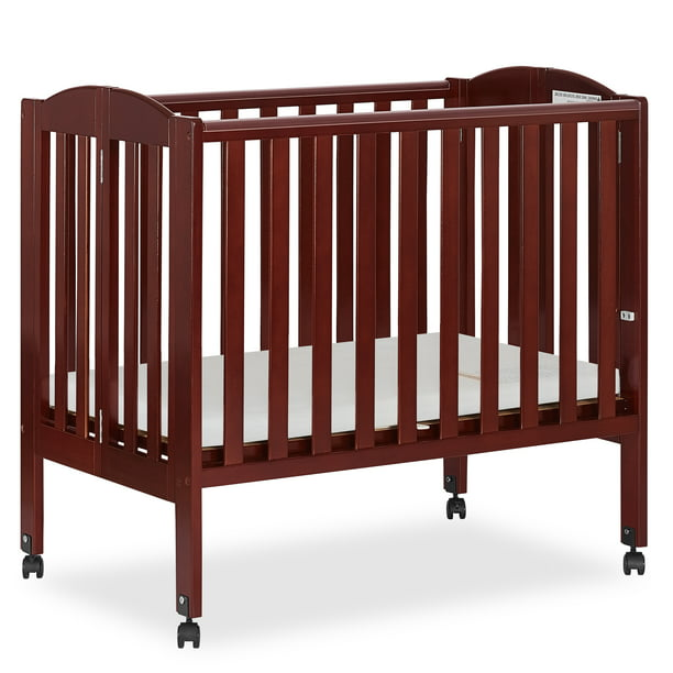 Folding Portable Mini Crib Cherry, Dream On Me Portable Crib Bedding