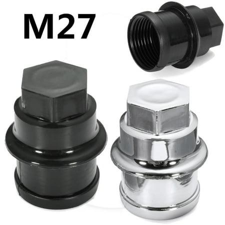 1x M27 Plastic Wheel Nut Cover Cap Black 12472838 15767268 9597158