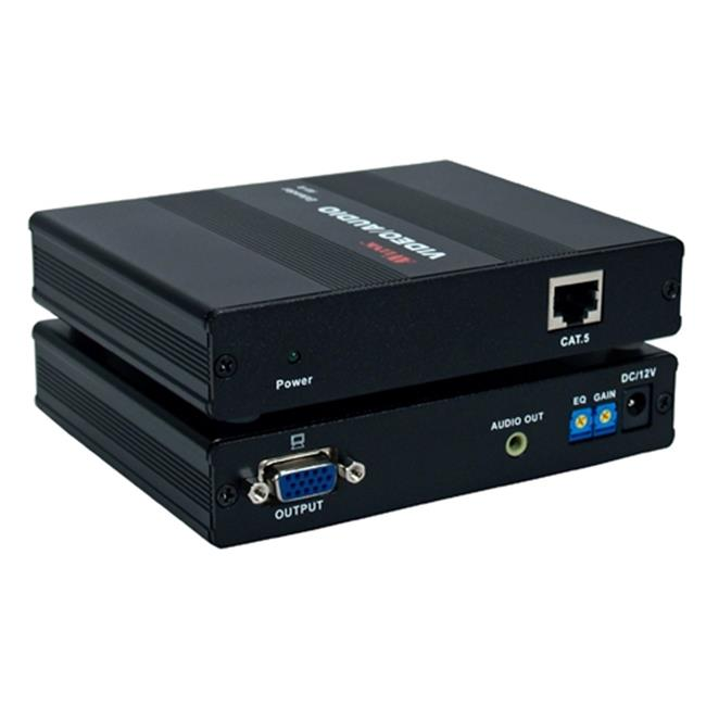 QVS VAC5-ERP 300-Meter VGA & QXGA with Stereo Audio CAT5 - RJ45 Extender System Receiver Module