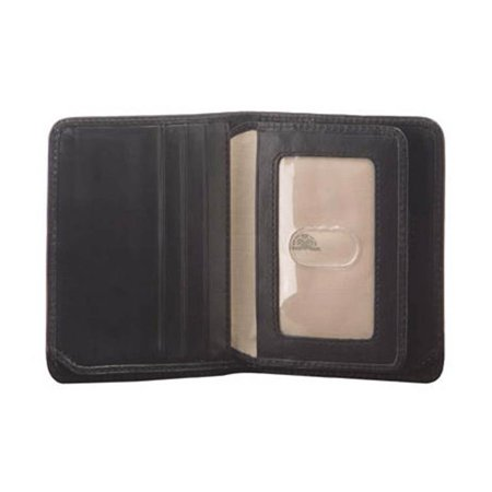 Prima Front Pocket Leather Wallet with I.D. Flap Card Case (Cognac)
