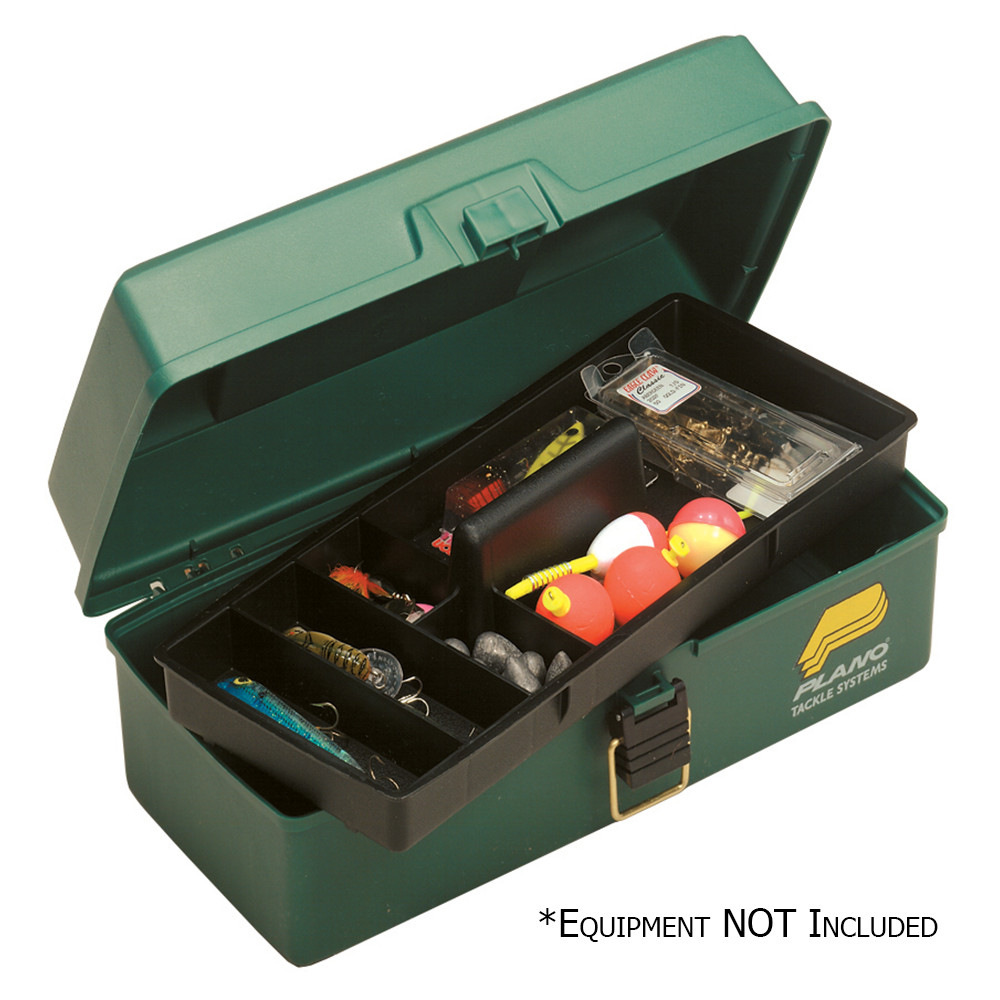 PLANO ONE TRAY GREEN TACKLE BOX by Plano Molding Co
