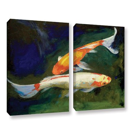 - ArtWall Feng Shui Koi Fish by Michael Creese 2 Piece Painting Print on Wrapped Canvas Set