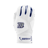 Marucci Adult Quest 2.0 Batting Gloves - White Navy