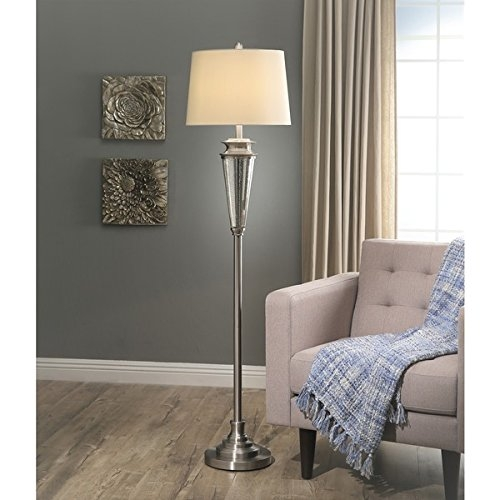 Abbyson Baron Mercury Glass Floor Lamp SP-78941-SIL