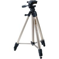 "Sunpak 620-080 Tripod with 3-Way Pan Head (Folded height: 20.8""; Extended height: 60.2""; Weight: 2.3lbs; Includes 2nd quick-release plate)"