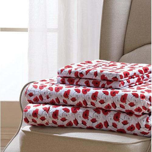 Winston Porter Coatsburg Poppy Sheet Set