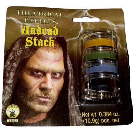 Undead Stack Grease Makeup Halloween Theatrical Effects Stage Face NEW Prop (Two Faced Makeup Halloween)
