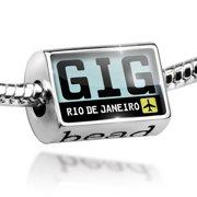 Bead Airport code GIG / Rio de Janeiro country: Brazil Charm Fits All European Bracelets