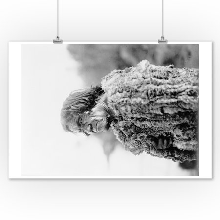 Mohave Man Wearing Rabbit Fur Coat Curtis Photograph (9x12 Art Print, Wall Decor Travel Poster)