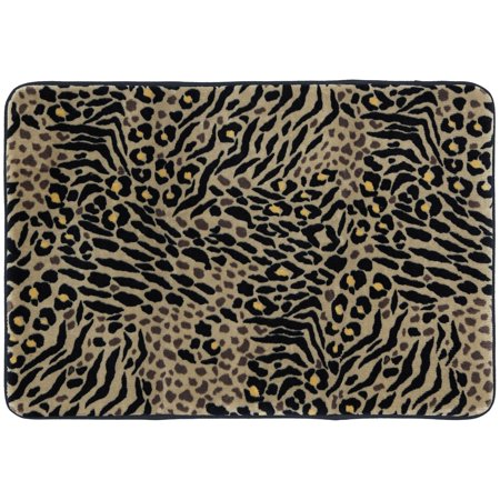 Better Homes And Gardens Animal Print Memory Foam Bath Rug Brown 1 8