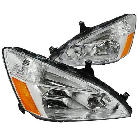 Spec-D Tuning 2003-2007 Honda Accord Jdm Headlights Lamps Lx Ex 03 04 05 06 07 (Left + (Jdm Black Housing Led)