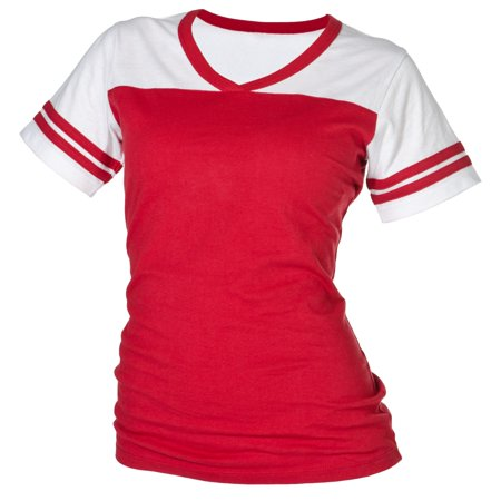 Bundle: Boxercraft Powder Puff Tee Shirt & 10% off coupon for a future purchase with us, Red-XS