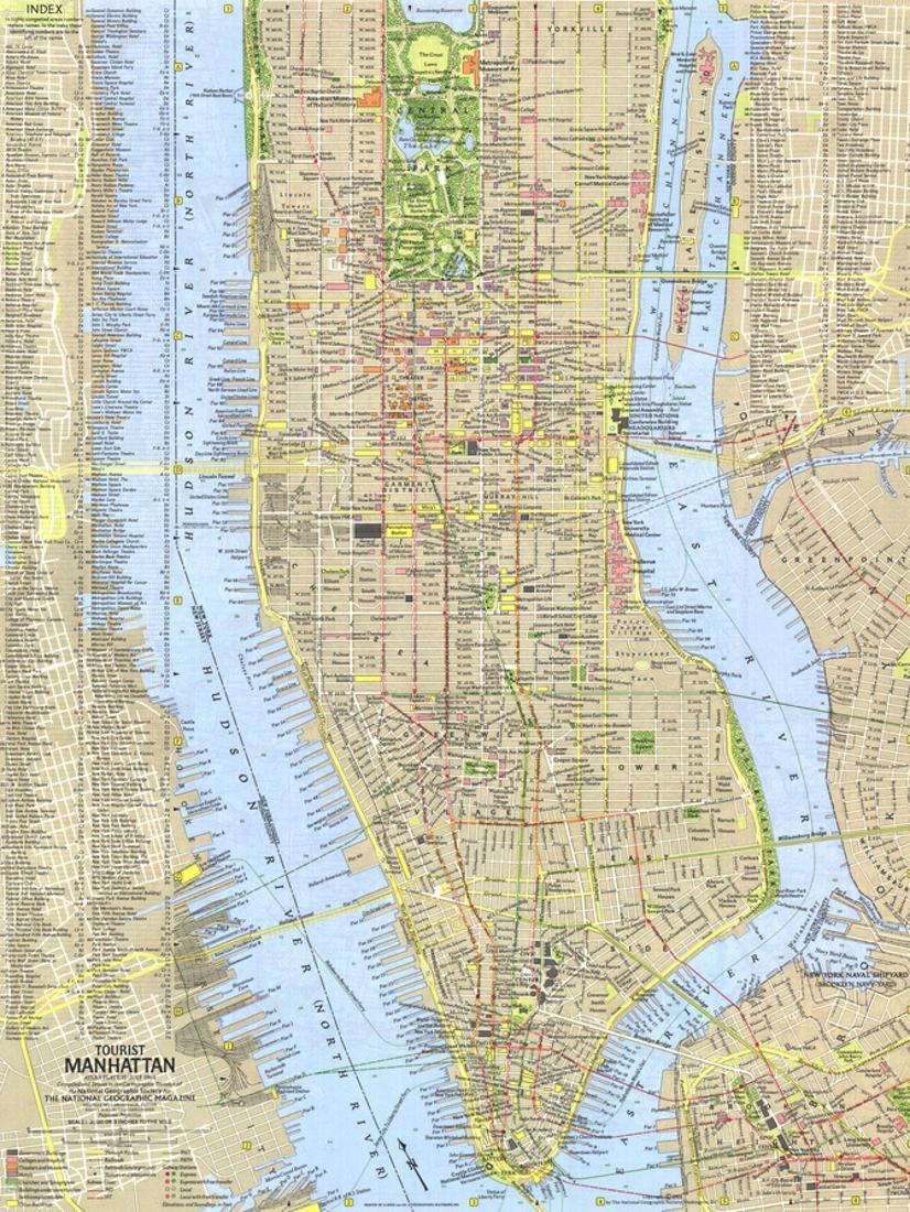 This is a picture of Printable Map of Manhattan with regard to walking