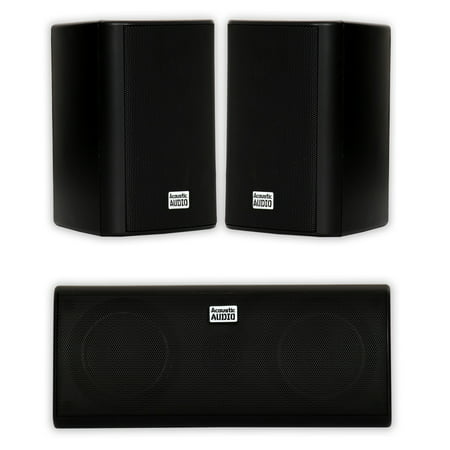 Acoustic Audio AA351B and AA35CB Indoor Speakers Home Theater 3 Speaker Set ()
