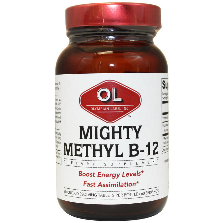 Olympian Labs Mighty Methyl B-12 Dietary Supplement, 60 count