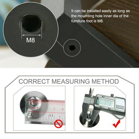M8 x 12 x 37mm Leveling Feet Adjustable Leveler for House Table Sofa Leg 16pcs - image 1 of 7