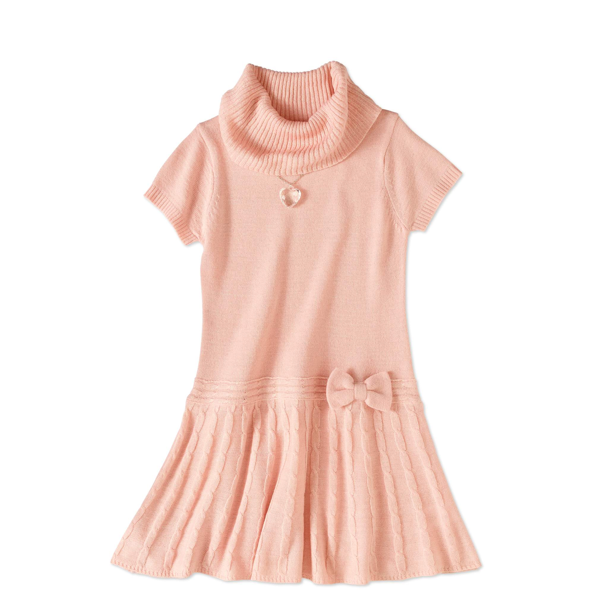 Self Esteem Girls' Cowl Neck Sweater Dress With Necklace - Walmart.com