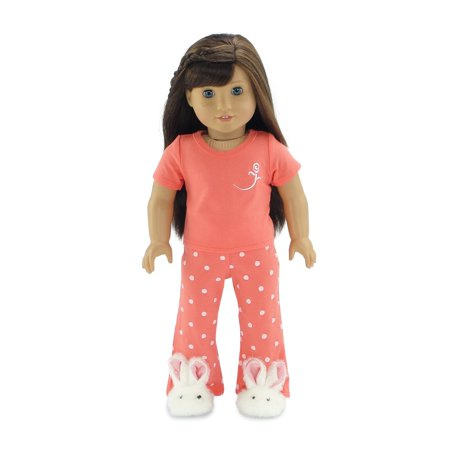 18 Inch Doll Clothes Coral Pajamas | Fits 18