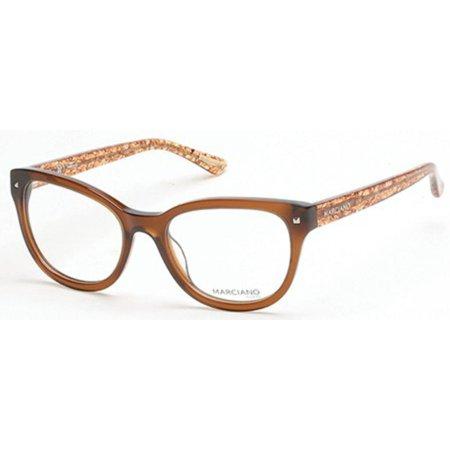 Guess Marciano GM0270-048-53 Cat Eye Women's Brown Frame Clear Lens Eyeglasses (Guess Eye Glass Frames)