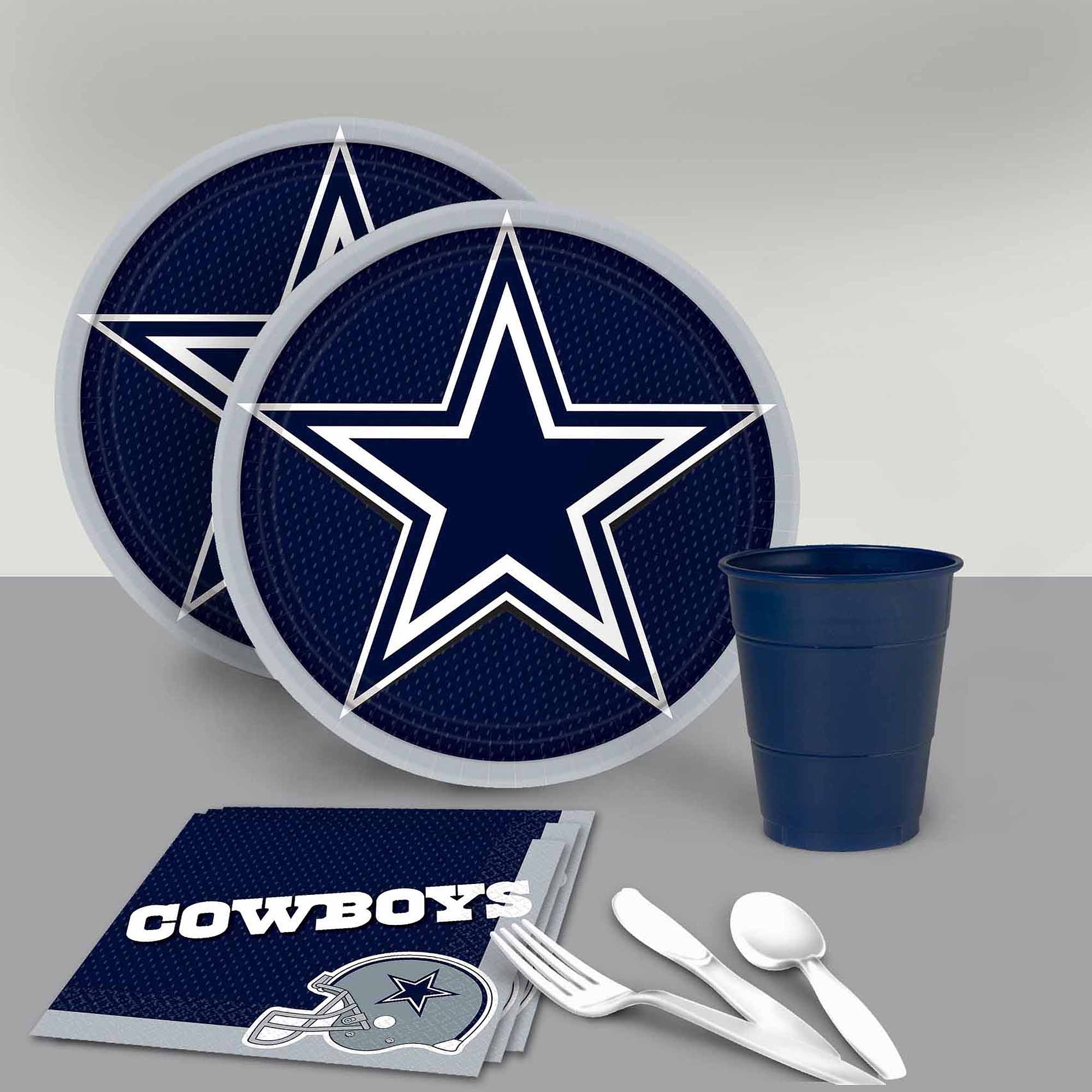 Dallas Cowboys Wall Decor dallas cowboys tableware party pack for 16 - walmart