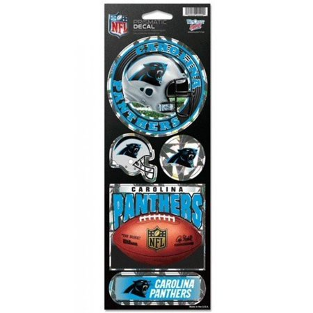 NFL Carolina Panthers Prismatic Stickers, Team Color, One Size