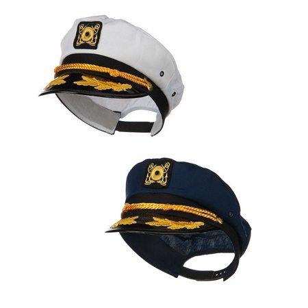 Nicky Bigs Novelties - Sailor Ship Yacht Boat Captain Hat Navy Marines  Admiral Blue White Gold 2 Pack - Walmart.com b35cbc35d0