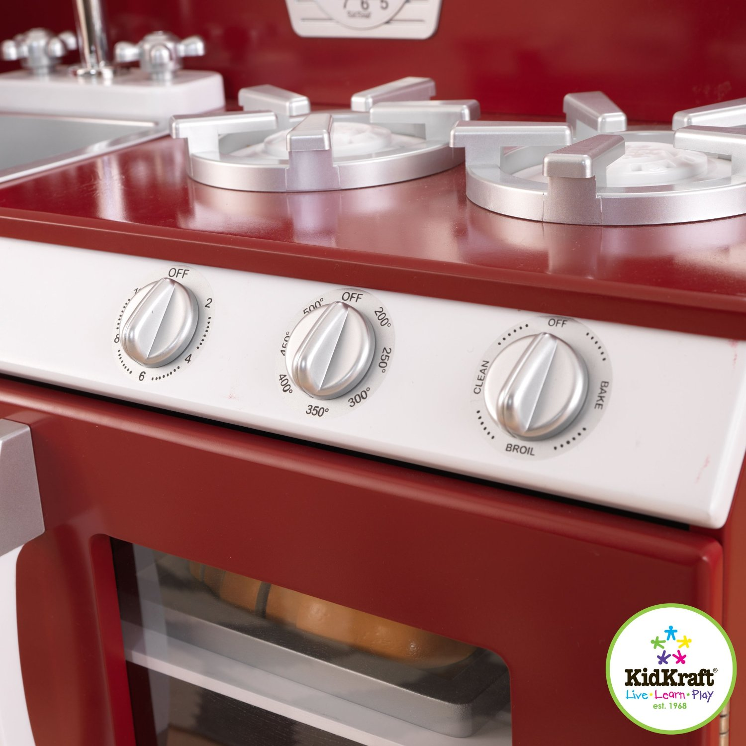 kidkraft  piece red retro kitchen and refrigerator  walmart, Kitchen design