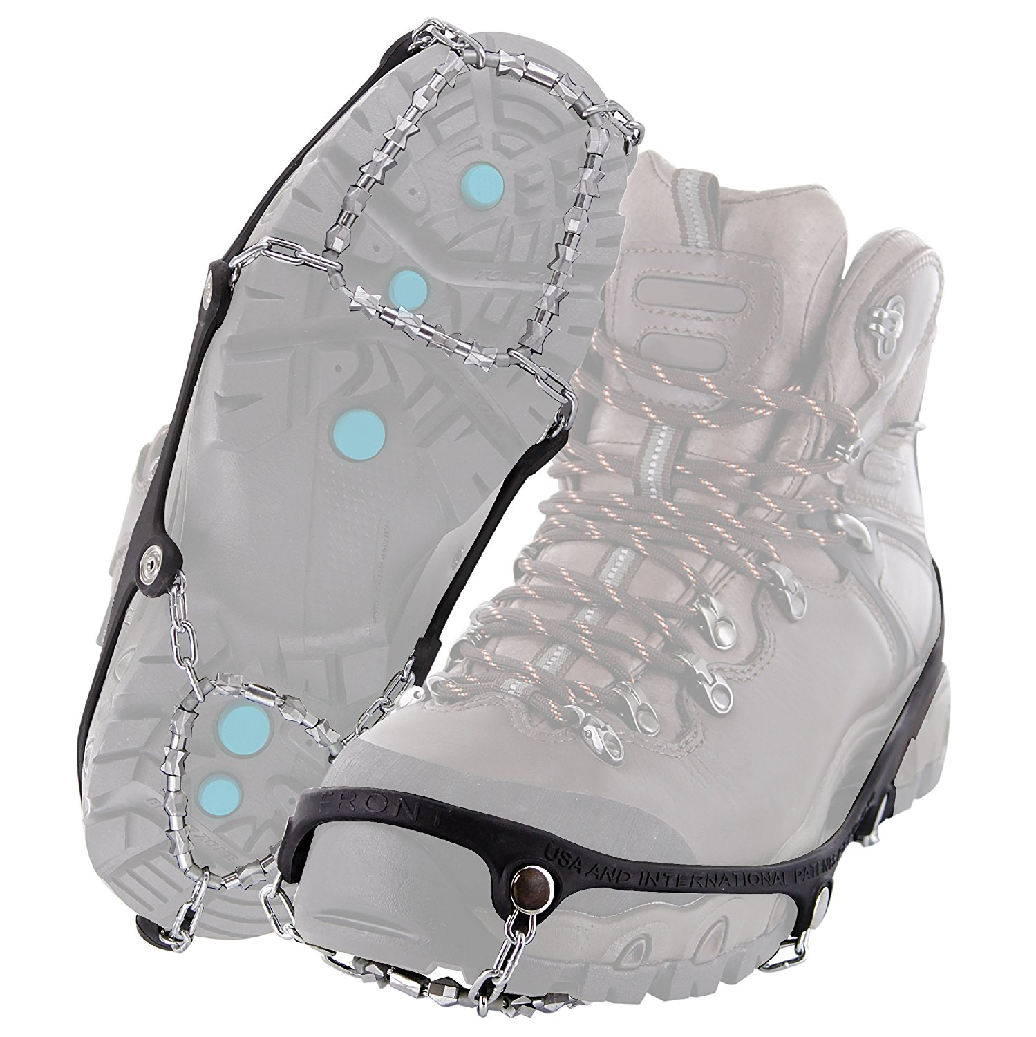 Diamond Grip All-Surface Traction Cleats for Walking on Ice and Snow, Easy Snow TrekkersLarge Size Trekkers Safe Shoes Pro Xxlarge Outdoor AntiSlip 10 Crampon 12.., By YakTrax