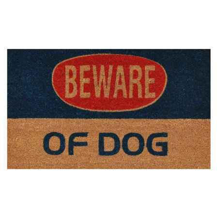 Dog Warning Doormat - Dog Canvas Mat