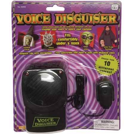Morris Costumes FM56983 Voice Changer With Microphone Costume](Professional Halloween Voice Changer)