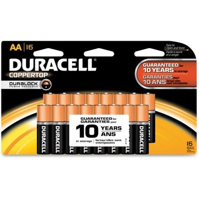 Duracell CopperTop Alkaline AA Batteries DURMN1500B16Z