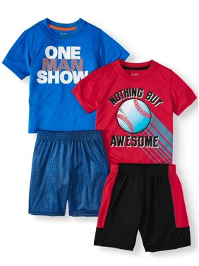 Wrights Mix & Match Outfits, 4pc Active Set (Toddler Boys)