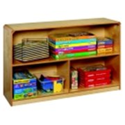Korners For Kids Mobile 3-Compartment Storage Cabinet, Birch