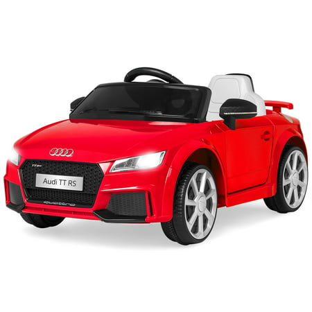 Best Choice Products 6V Kids Licensed Audi TT RS Electric Ride-On Car Toy w/ Parent Control, 2 Speeds, Suspension, AUX Input, Lights, Sounds - Red - Big Toy Car
