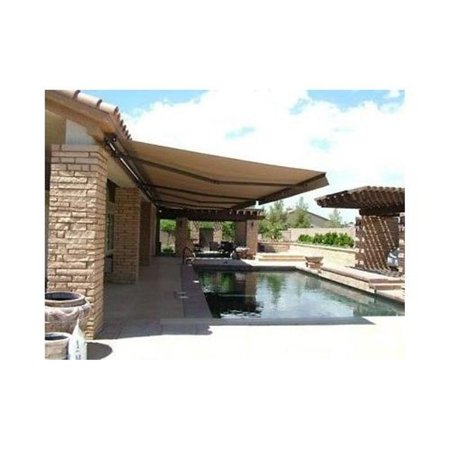 ALEKO Motorized Retractable Patio Awning 16 X 10 Ft Sand ...