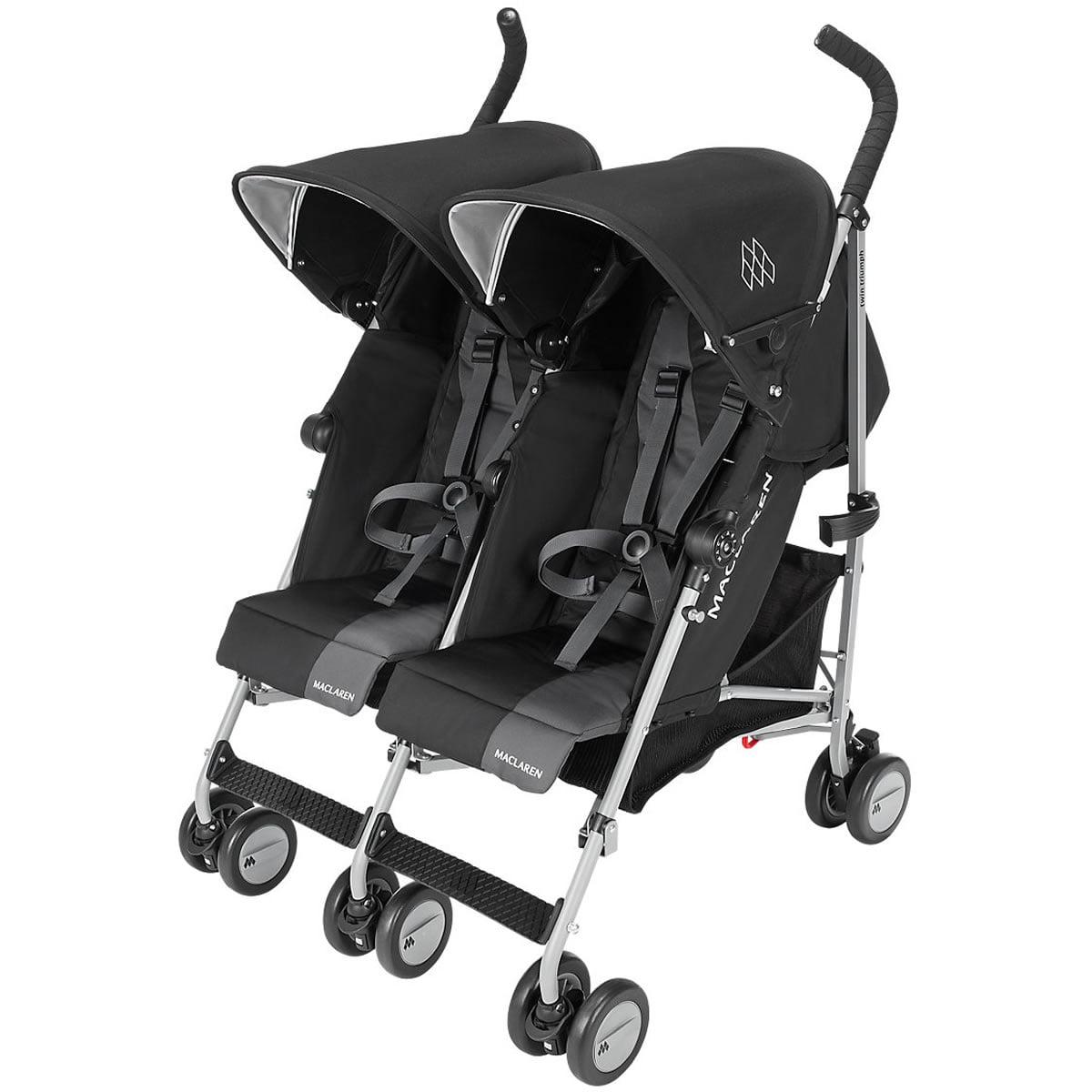 Maclaren Twin Triumph Umbrella Stroller, Black/Charcoal