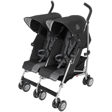 Maclaren Twin Triumph Umbrella Double Stroller, Black/Charcoal