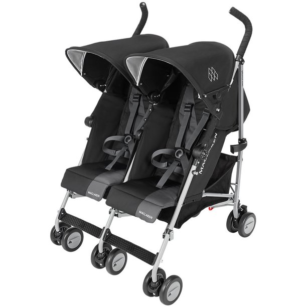 Maclaren Twin Triumph Umbrella Double Stroller, Black ...