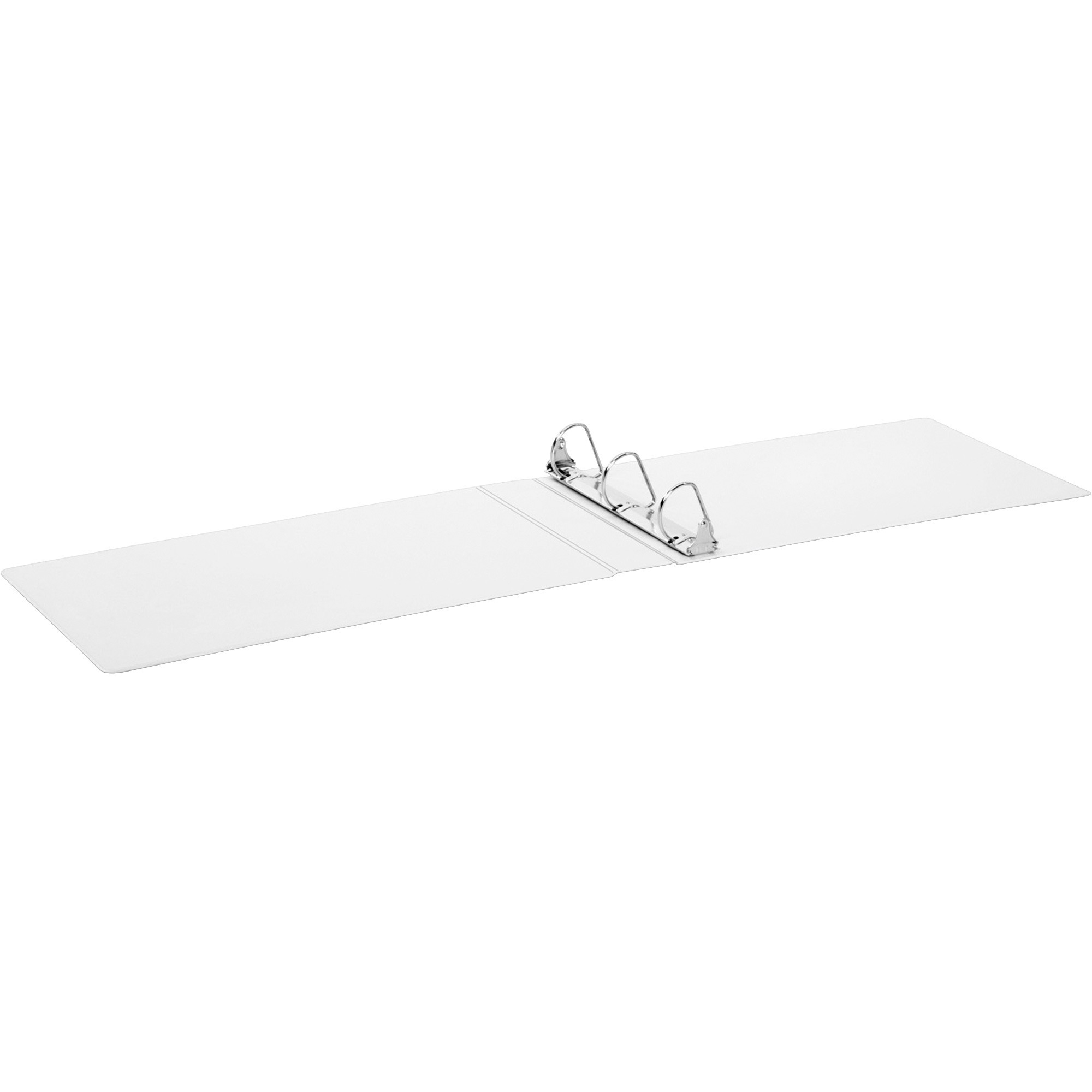 "Cardinal 11 x 17 ClearVue Slant-D Ring Binder, 2"" Cap, White"