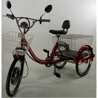 CozyTrike, adult electric tricycle in red